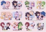 Sonic Valentine's day chibis