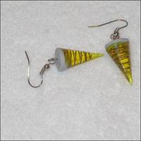 Gurren Lagann drill earrings. by astis