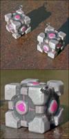 Portal cube - pendant