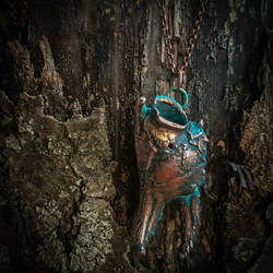 Electroformed Copper Crab Claw Pendant