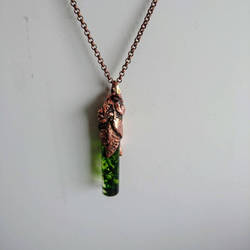 Epoxy Forest Pendant  Electroformed Copper