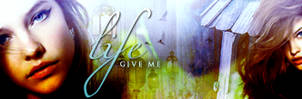 Give me life banner by wherestherain