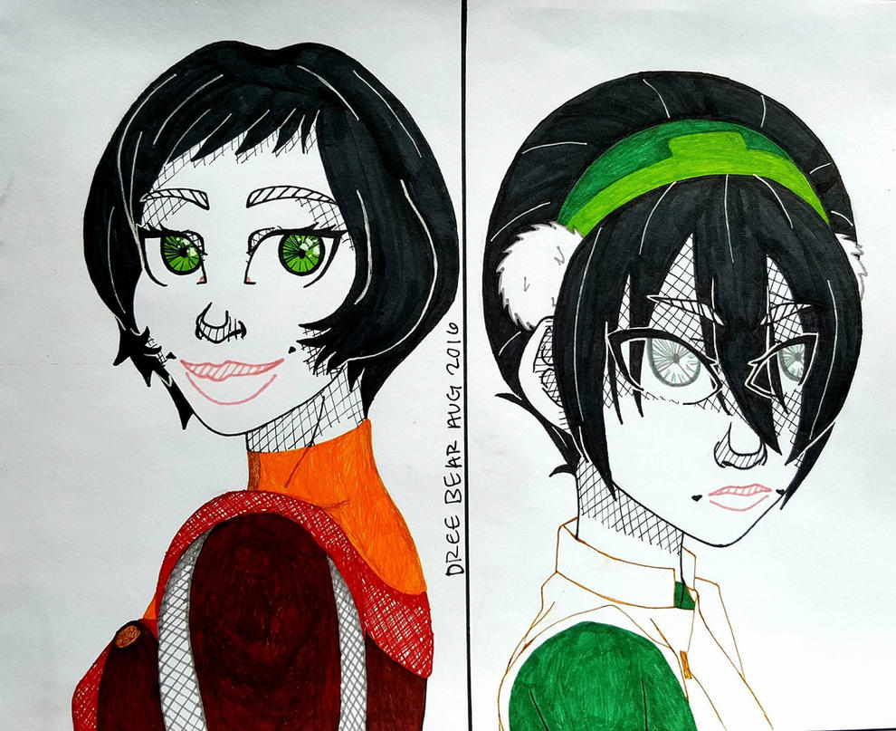 Opal and Toph Beifong by DreeBear