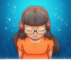 Listening to music.. by Gubnub