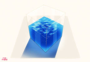Water and Glass Material Paintings