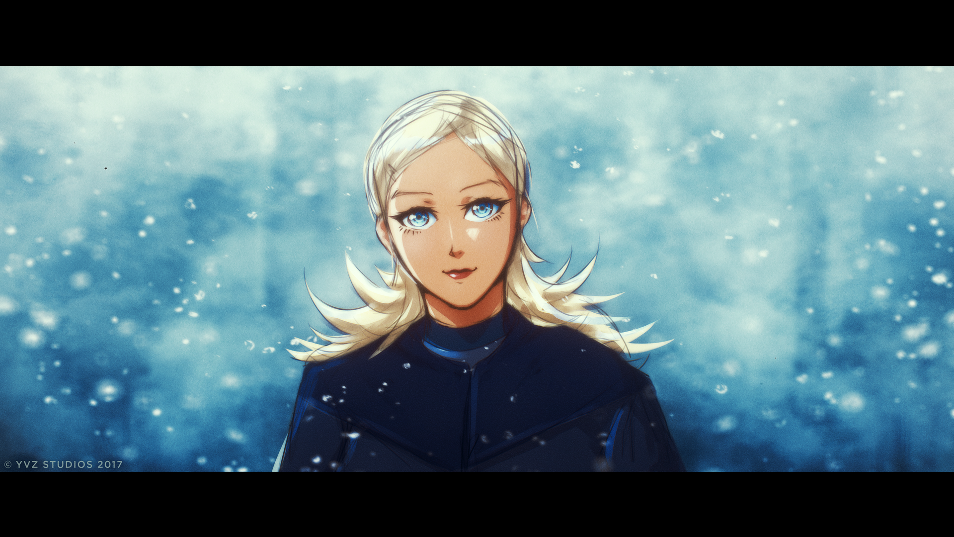 Snowy Witch with blue eyes - Cinematic by Gubnub