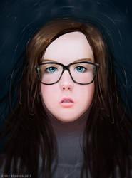 Rose Portrait - Realistic Digtial Painting