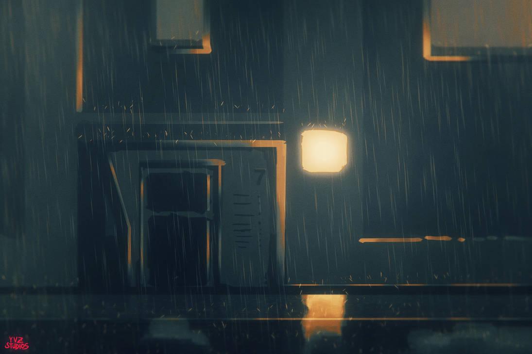 Rainy Concept Art Background by Gubnub