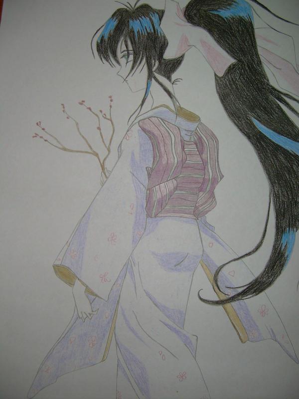 Japanese girl -Commission- by MurasakiChibiNeko
