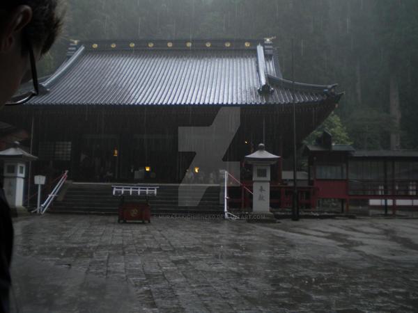 Rain on the temple by MurasakiChibiNeko