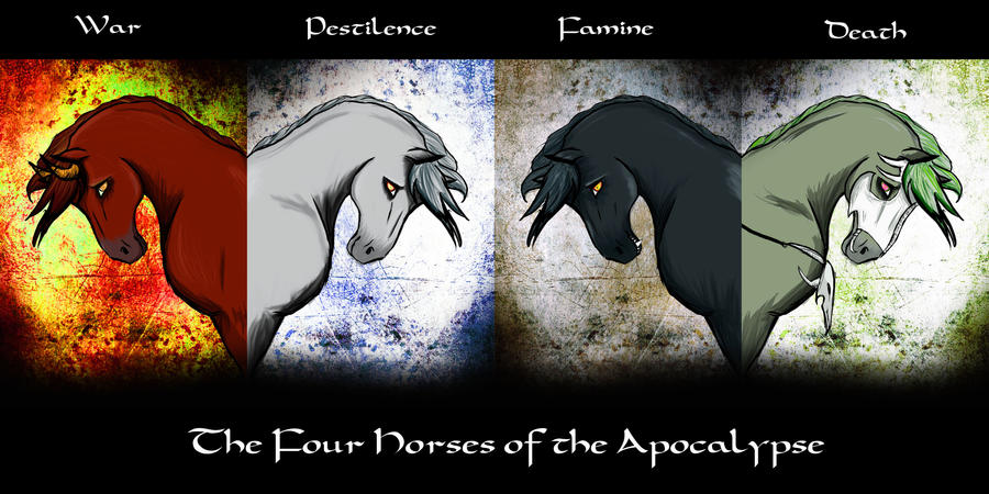 The Four Horses Of The Apocaly By Itildine D X