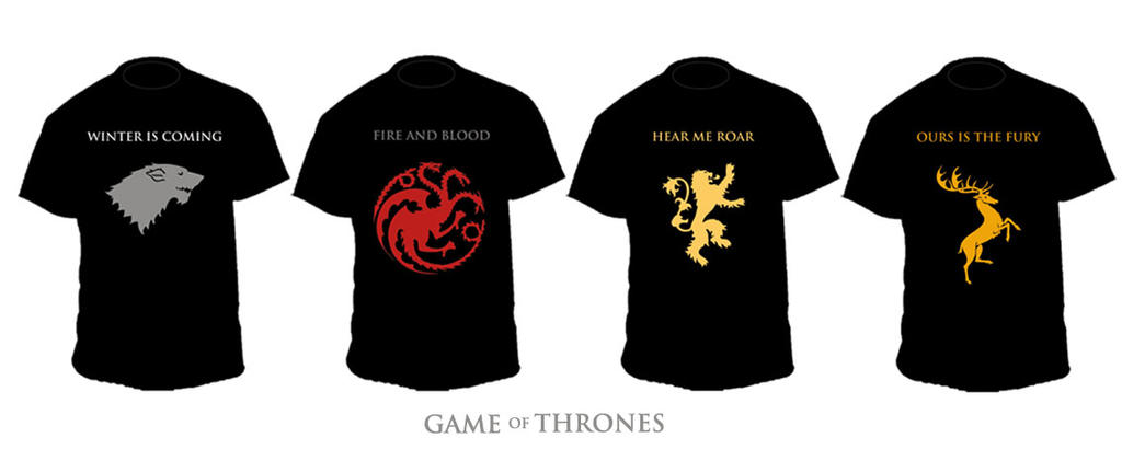 T Shirt Game Of Thrones By Itildine On Deviantart