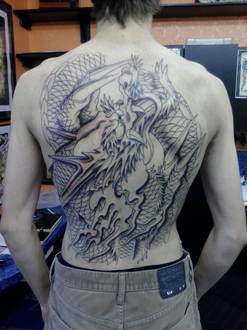 Dragon tattoo shaded by jzaned on deviantart for How to shade tattoos