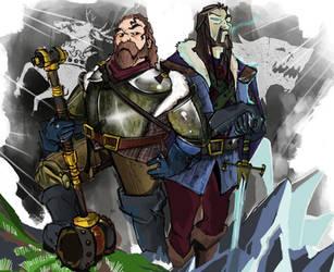 Robert Baratheon and Eddard Stark by Murushierago101