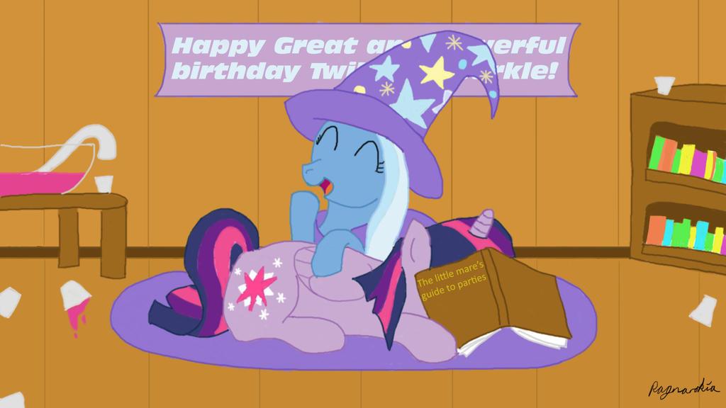 Twilight's Great and Powerful birthday by Ragnarokia