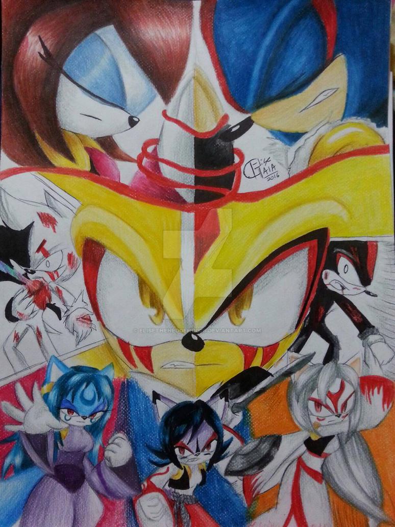 SSXU-La ira de los Dioses dibujo a mano by EliseTheHedgehog26