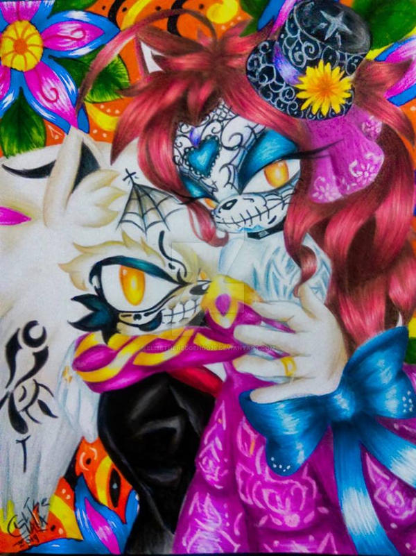 Day of the dead Andise by EliseTheHedgehog26