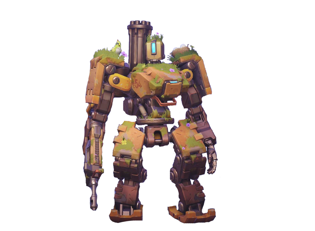 [Overwatch] Transparent Overgrown Bastion by SonicandRBisawesome