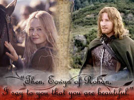 Faramir and Eowyn Wallpaper by LiveLaughLoveFP