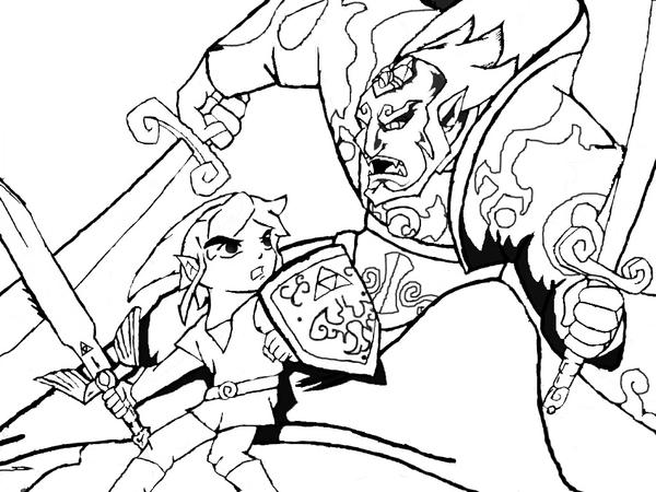 ganondorf coloring pages - photo#6