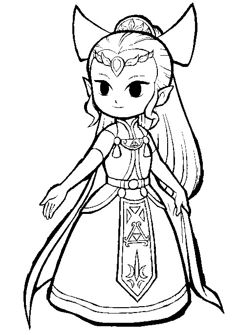princess zelda coloring pages  eassume, printable coloring