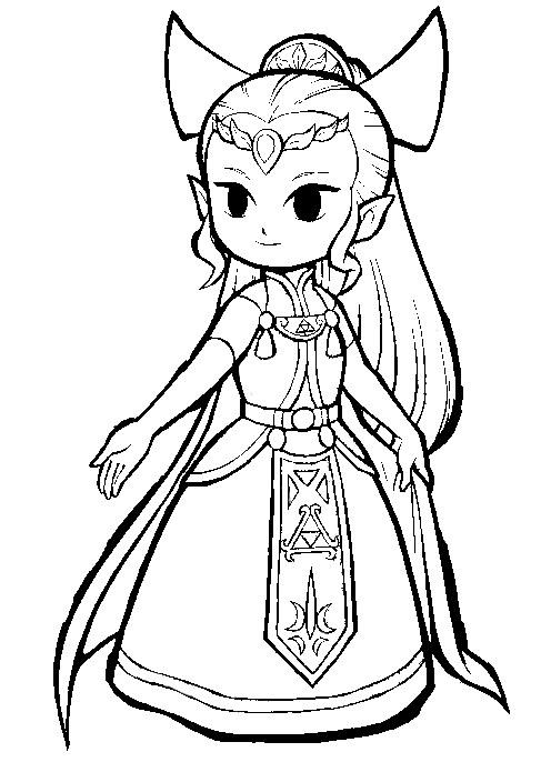princess zelda coloring pages   princess zelda 2 by kng-bowser on DeviantArt