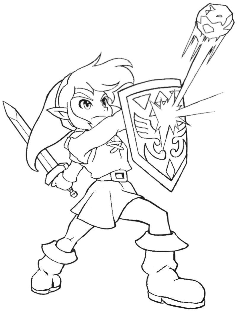 link coloring pages - dark link pages coloring pages