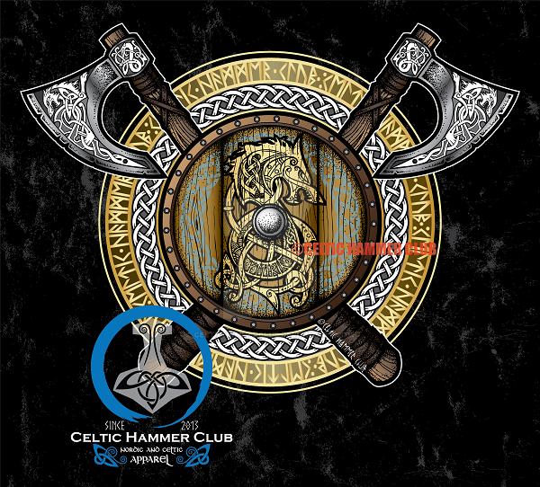 Fenrir Viking Shield Full Color Version By Celtichammerclub On