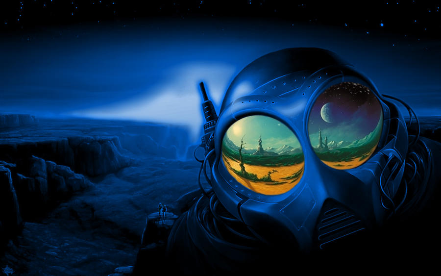 Wallpaper 1680x1050 blue by peota on DeviantArt