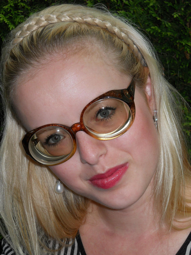 Girls in strong glasses
