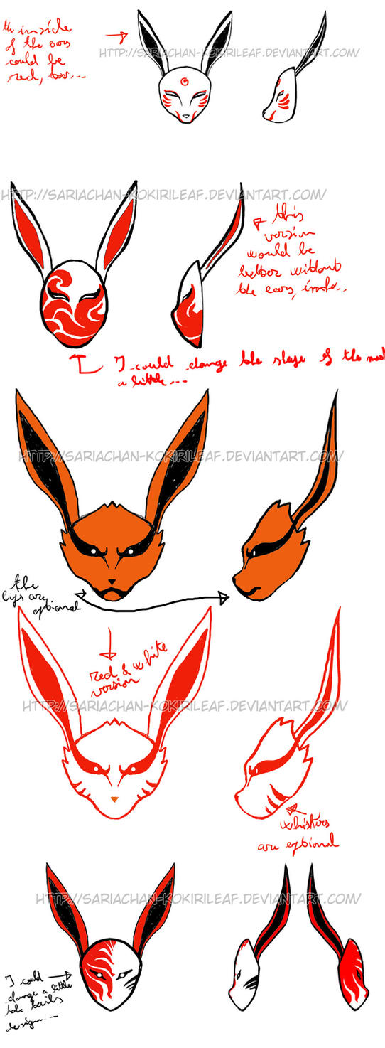 Kyuubi ANBU mask designs - 1 by MajorasMasks on DeviantArt