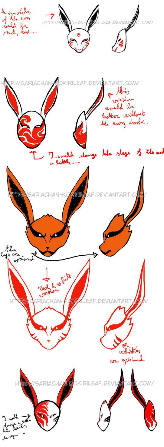 Kyuubi ANBU mask designs - 1 by MajorasMasks on DeviantArt