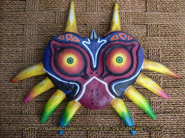 Majora 39 s mask paper mache ver giftart by majorasmasks for Paper mache mash