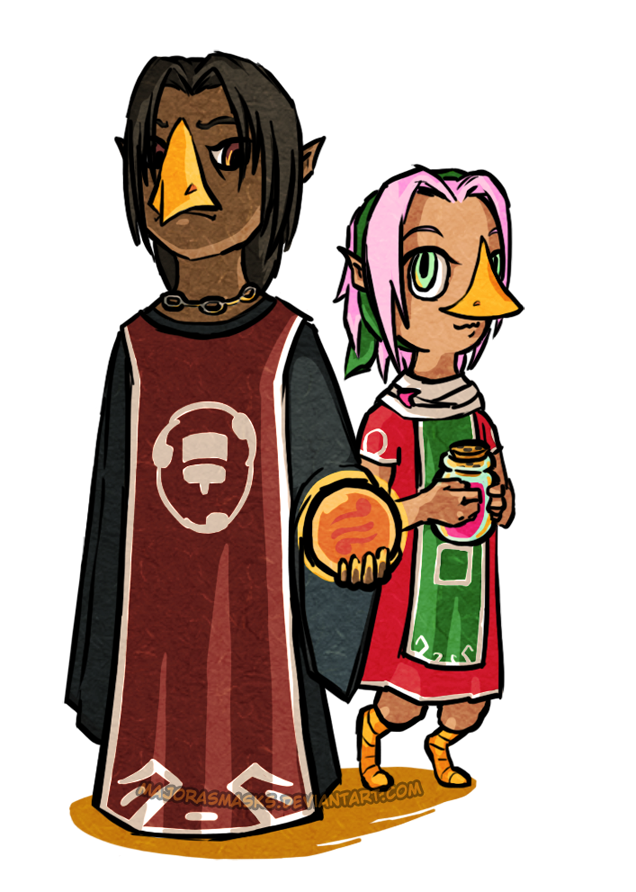 Itachi and Sakura as Rito from Zelda - TWW by MajorasMasks
