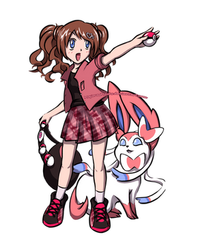[Pokemon] Roselynn (FC) and Sylveon | COMMISSION