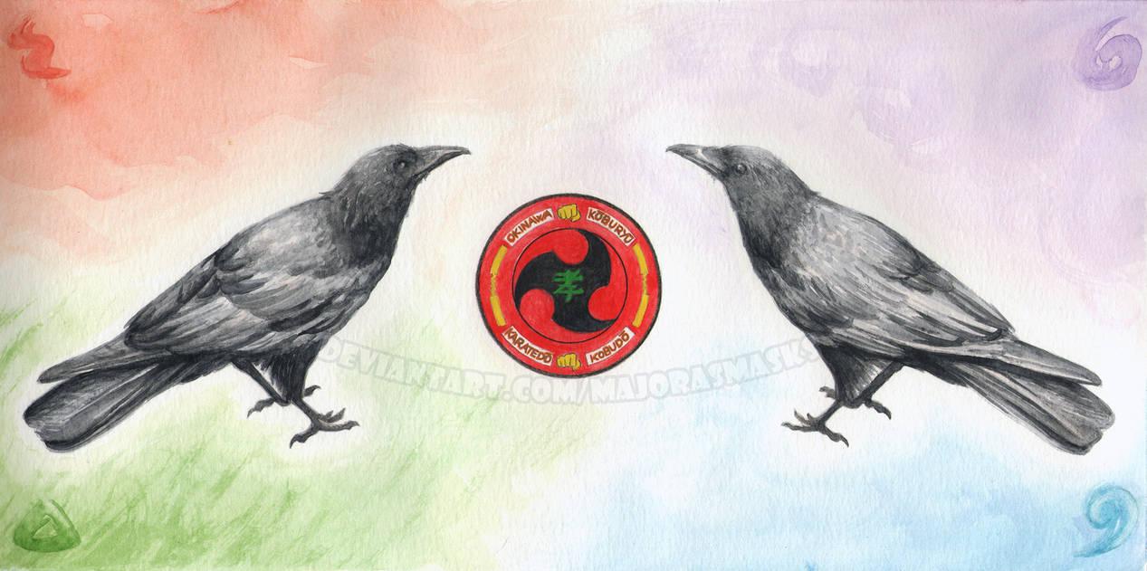 [original] Ravens with logo | COMMISSION