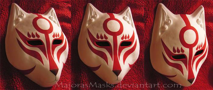 [original] Amaterasu-inspired fox mask |COMMISSION