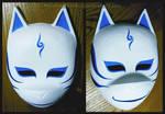Custom Kakashi ANBU mask (blue v. 2) | COMMISSION by MajorasMasks