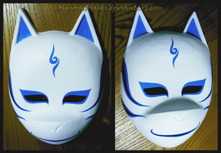 Custom Kakashi ANBU mask (blue v. 2) | COMMISSION by ...