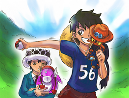 Pirates and Trainers (One Piece - PKMN crossover) by MajorasMasks