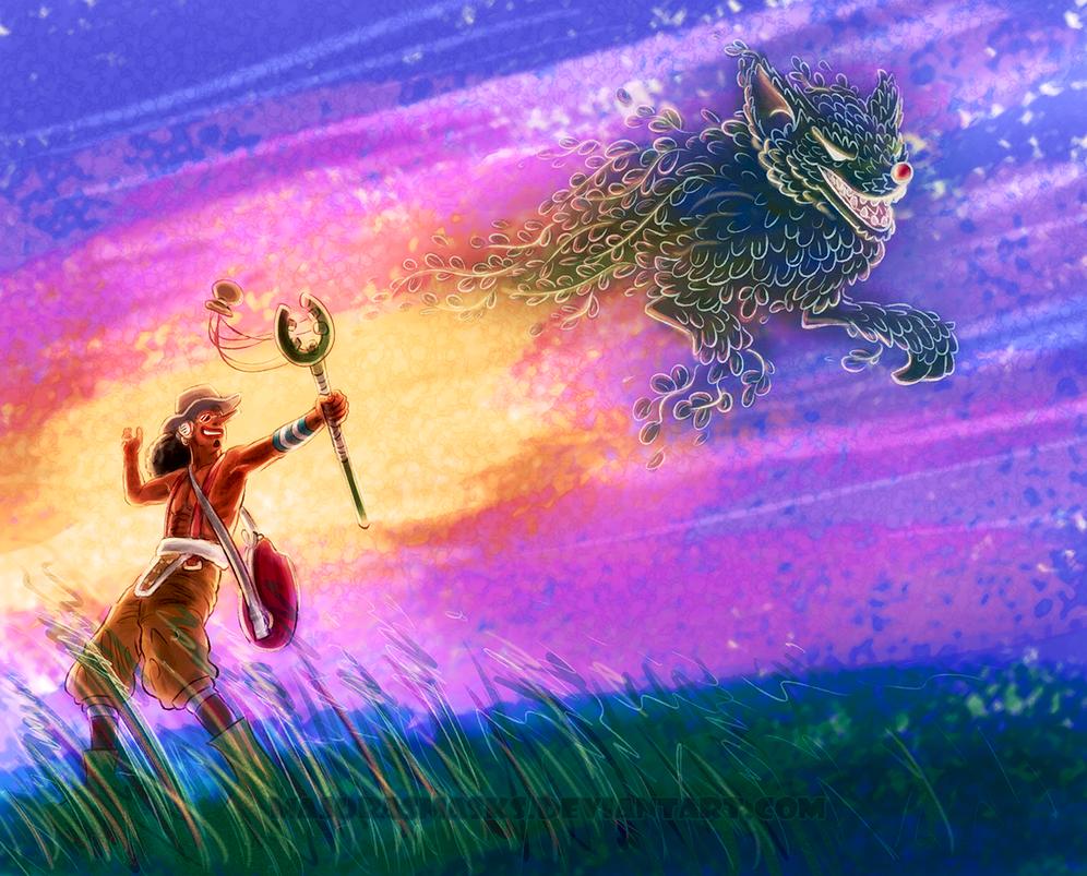 Impact Wolf (Usopp from One Piece) by MajorasMasks