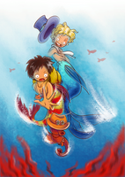 [One Piece] Underwater Adventures (ASL mer!AU)
