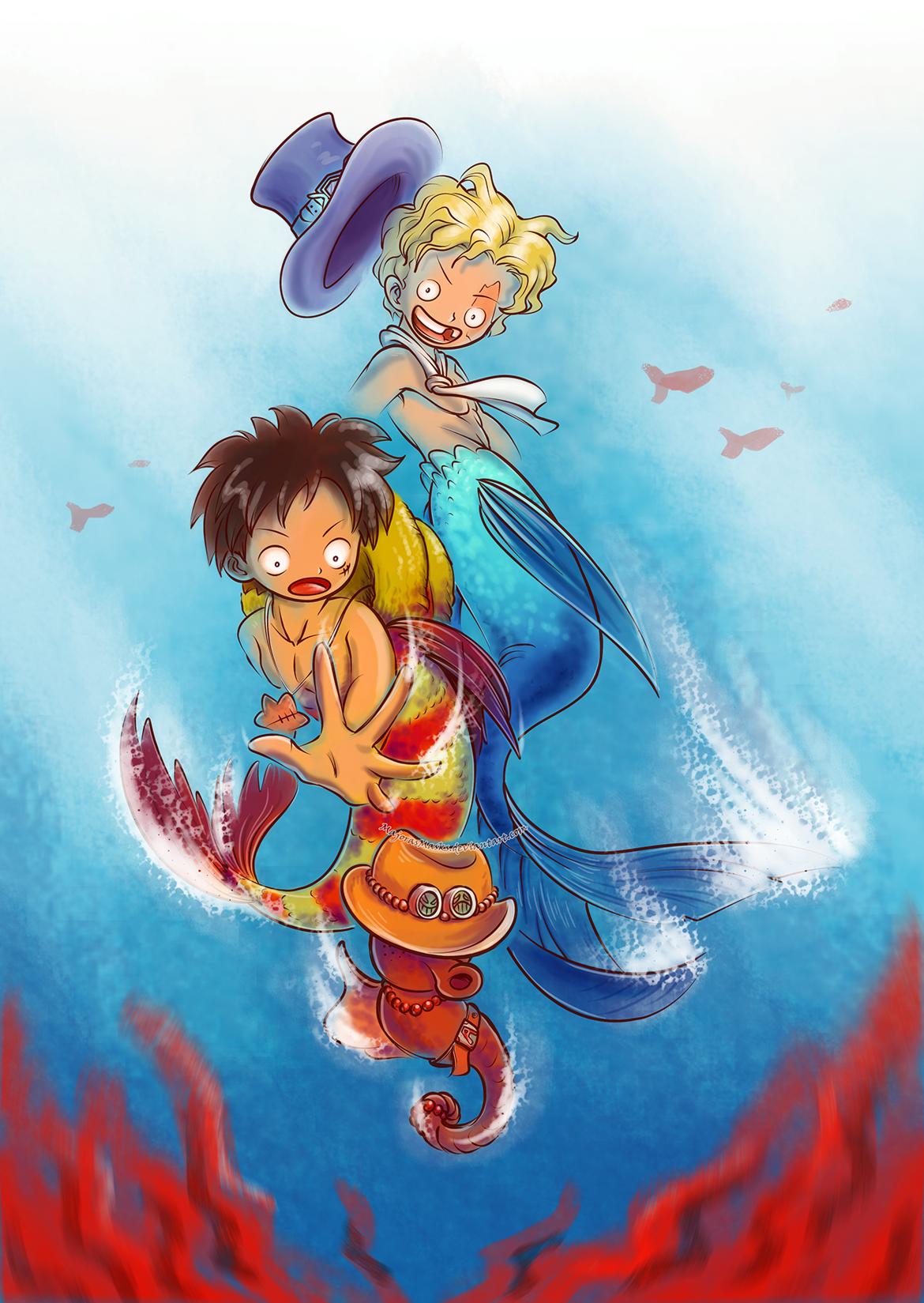 Underwater Adventures (mer!AU One Piece fanart) by ...