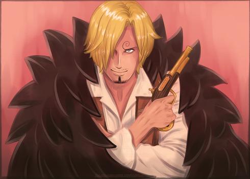 Wanted - Strong World Sanji (One Piece fanart)