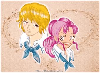 A Heart on the Sand (CoraBelle One Piece fanart) by MajorasMasks