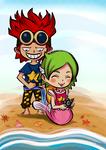 [One Piece] Exchanging Gifts (Keimi x Kidd) by MajorasMasks