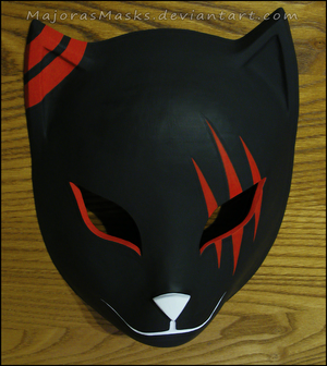 custom Itachi's ANBU mask (red ver.) | COMMISSION