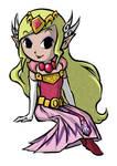 Princess Zelda (WW and MC ver.) | COMMISSION 1 by MajorasMasks