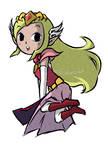 Princess Zelda (WW and MC ver.)   COMMISSION 2 by MajorasMasks
