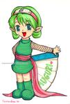 [Legend of Zelda][Naruto] Sariachan card | GIFTART by MajorasMasks